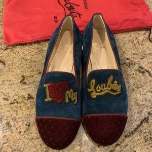 Christian Louboutin Suede CUTE Loafers